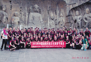 TTG Redbacks and SA Precision Team at The Longmen Grottos, Luoyang