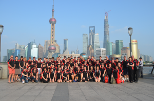 TTG Redbacks and SA Precision Team at The Bund, Shanghai