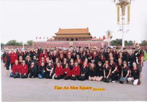 TTG Redbacks and SA Precision Team in Tian An Men Square, Beijing